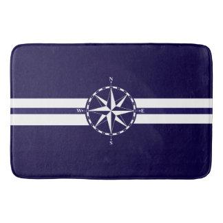 Beautiful Nautical Compass Blue Nautical Theme Bath Mat