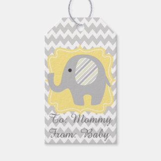 Beautiful Neutral Baby Shower Custom Elephant Gift Tags