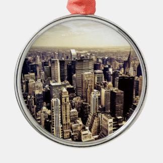 Beautiful New York City Skyscrapers Skyline Christmas Ornament