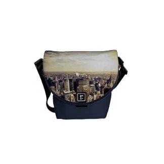 Beautiful New York City Skyscrapers Skyline Courier Bags