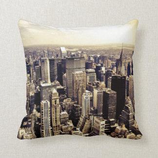 Beautiful New York City Skyscrapers Skyline Cushion