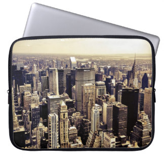 Beautiful New York City Skyscrapers Skyline Laptop Sleeve