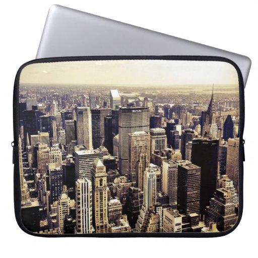 Beautiful New York City Skyscrapers Skyline Laptop Sleeve