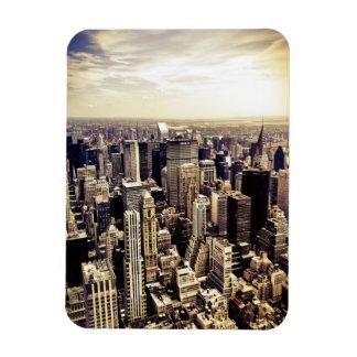 Beautiful New York City Skyscrapers Skyline Rectangular Photo Magnet