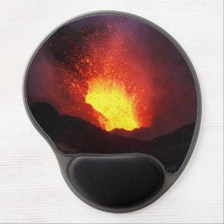 Beautiful night eruption volcano gel mouse mat