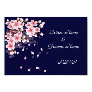 Beautiful Night Sakura RSVP cards