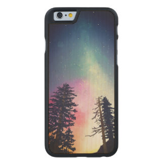 Beautiful night sky shining up to the heavens carved maple iPhone 6 case
