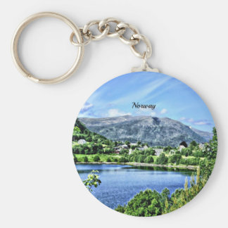 Beautiful Norway Basic Round Button Key Ring