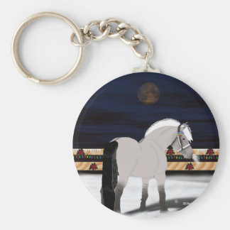 Beautiful Norwegian Fjord Horse Basic Round Button Key Ring