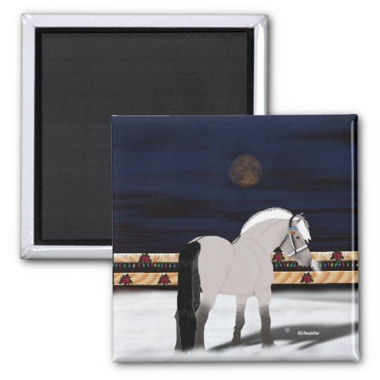 Beautiful Norwegian Fjord Horse Square Magnet