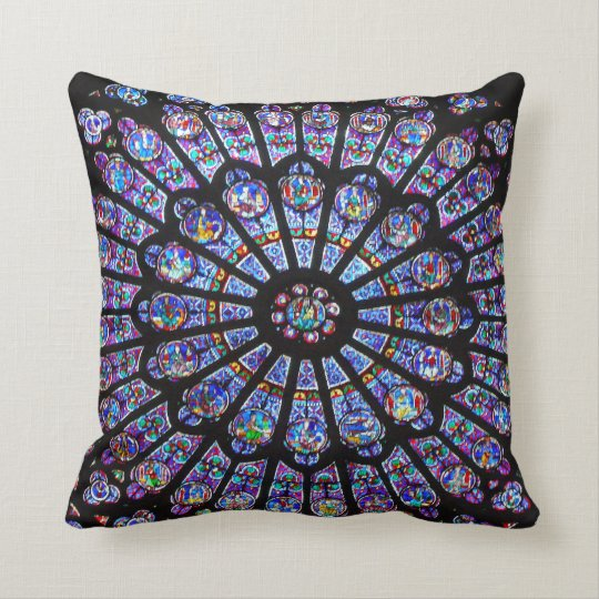 Beautiful Notre Dame Rose Window Cushion