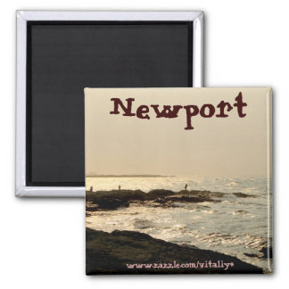 Beautiful ocean in Newport magnet design