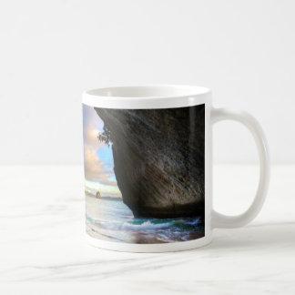 Beautiful Ocean Rock Arch Formation on Beach Mugs