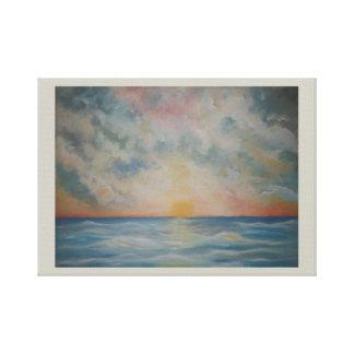 Beautiful Ocean Sunset on Canvas Canvas Print