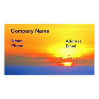 Beautiful Ocean View at Sunset Pack Of Standard Business Cards