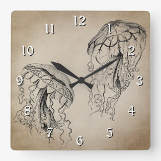 Beautiful Ocean Vintage Jellyfish Beach Wallclock