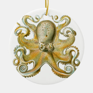 Beautiful octopus picture by Haeckel Christmas Ornament