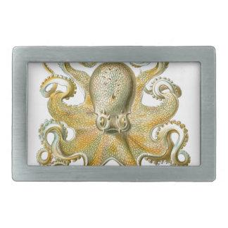 Beautiful octopus picture by Haeckel Rectangular Belt Buckle