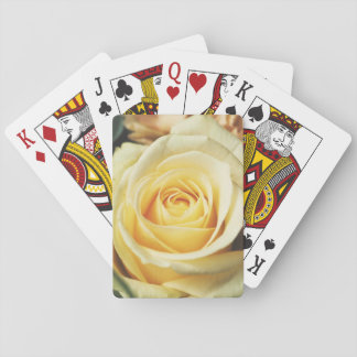 Beautiful Off White Cream Rose Playing Cards