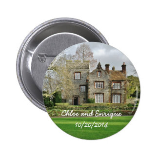 Beautiful Old Building Personalized Wedding 6 Cm Round Badge