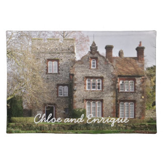 Beautiful Old Building Personalized Wedding Placemat