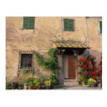 Beautiful old home with flowers at San Gimignano