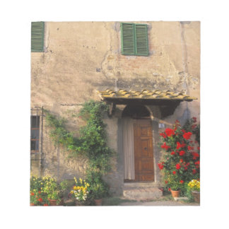 Beautiful old home with flowers at San Gimignano Notepad
