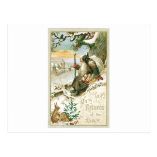 Beautiful old painting of Santa Claus Postcard