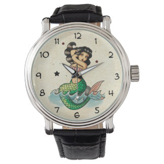 Beautiful Old School Mermaid Watch