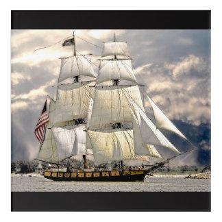Beautiful Old Ship and Sails Nautical Wall Art