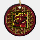 Beautiful Om Aum Symbol w/Circles and Squares