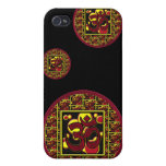 Beautiful Om Aum Symbol w/Circles and Squares Cases For iPhone 4