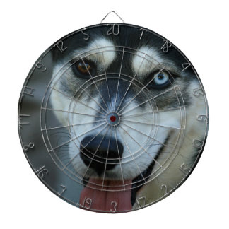 Beautiful One Blue Eye Siberian Husky Dartboard
