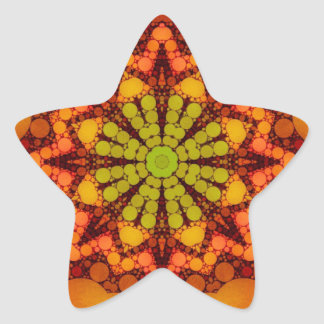 Beautiful Orange Abstract Star Sticker