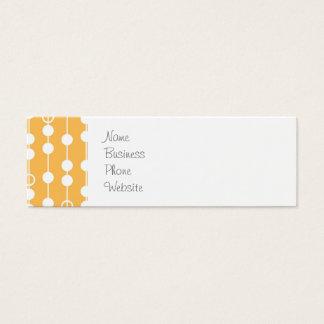 Beautiful Orange and White Hanging Beads Pattern Mini Business Card