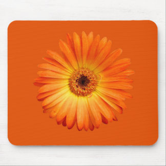 Beautiful Orange and Yellow Gerbera Daisy Mouse Mat