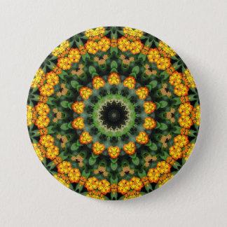 Beautiful Orange and Yellow Lantana Kaleidoscope 2 7.5 Cm Round Badge