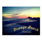 Beautiful Orange Beach Sunset Postcard