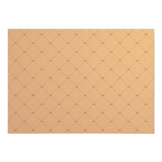 Beautiful orange checkered pattern 13 cm x 18 cm invitation card