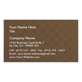 Beautiful orange checkered pattern business card
