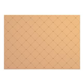 Beautiful orange checkered pattern invite