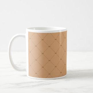 Beautiful orange checkered pattern mugs