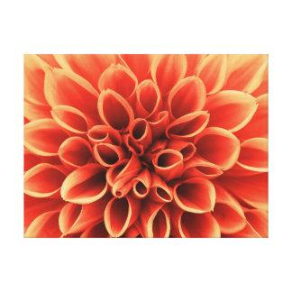 Beautiful Orange Dahlia Flower Canvas Print