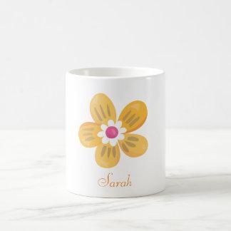 Beautiful Orange Flower Coffee Mug