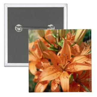 Beautiful Orange Flowers 15 Cm Square Badge