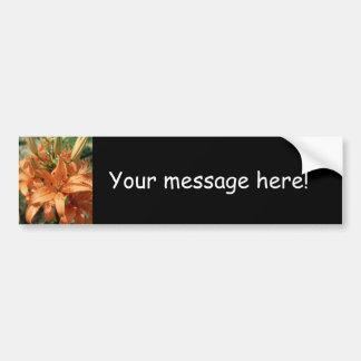 Beautiful Orange Flowers Bumper Sticker
