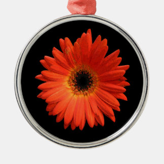Beautiful Orange Gerbera Daisy Christmas Ornament