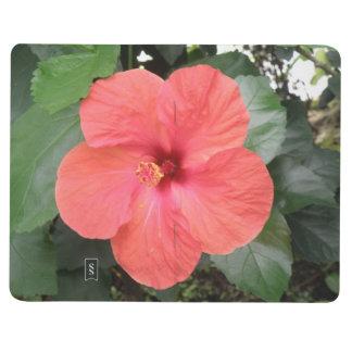 Beautiful Orange Hibiscus Flower Journal