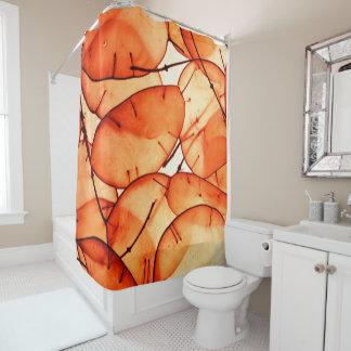 Beautiful Orange Leaf Curtain Shower Curtain