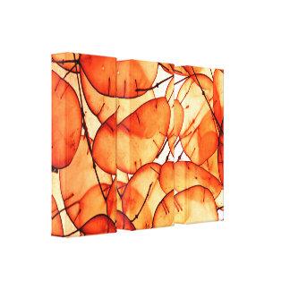Beautiful Orange Leaf Wrapped Canvas Canvas Prints